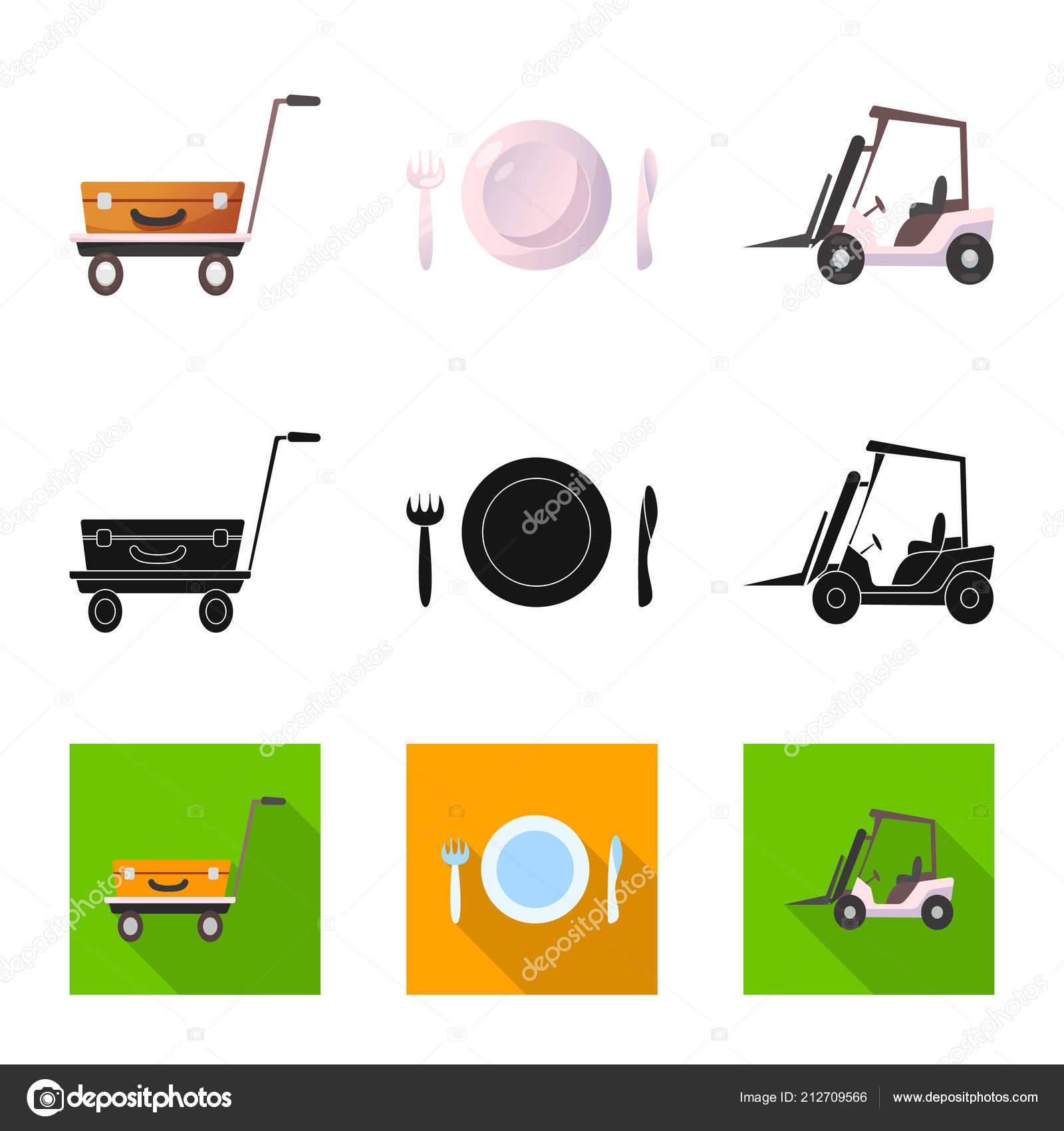 Isolated Object Of Airport And Airplane Symbol Set Of Airport And