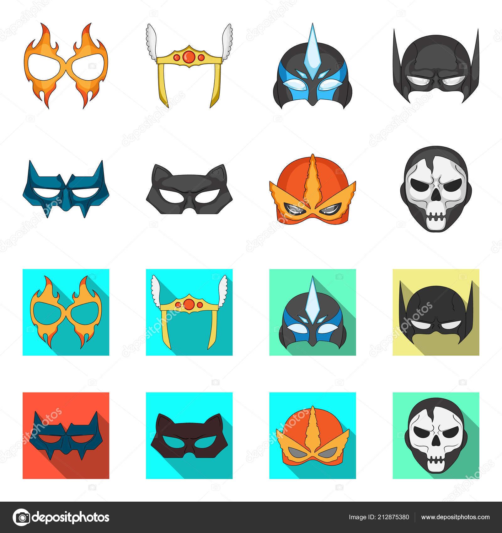 Isolated Object Of Hero And Mask Logo Set Of Hero And Superhero