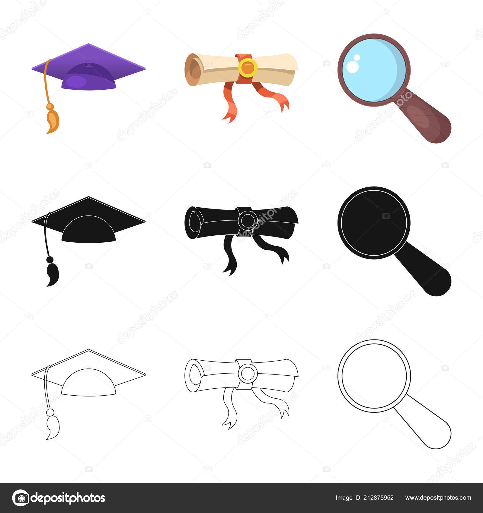 Vector Design Of Education And Learning Symbol Collection Of
