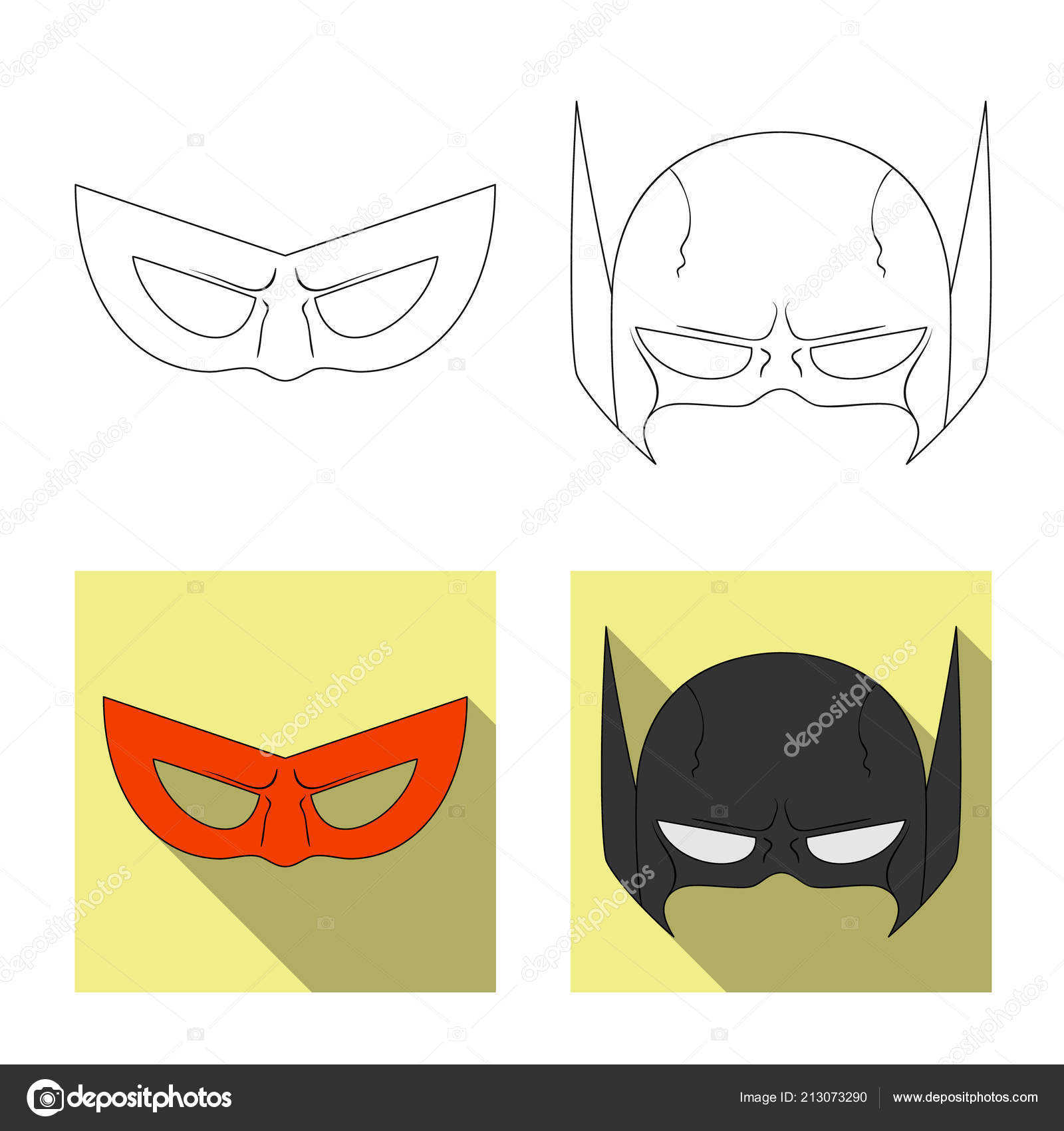 Isolated Object Of Hero And Mask Logo Collection Of Hero And