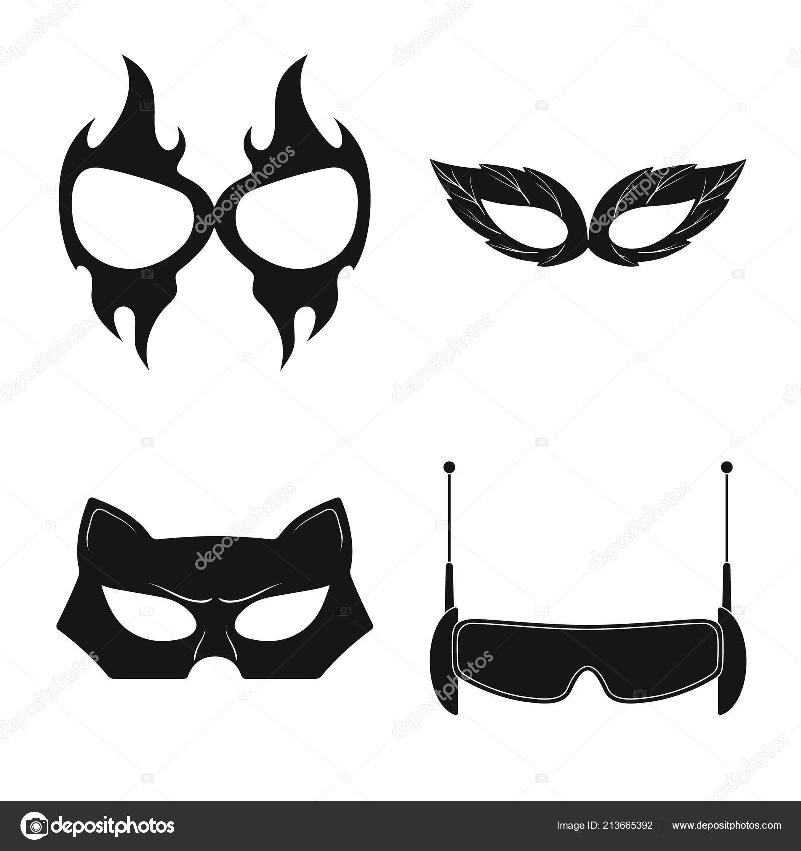 Vector Design Of Hero And Mask Symbol Set Of Hero And Superhero
