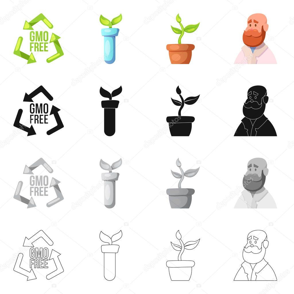 Vector illustration of  and  icon. Set of  and  stock symbol for web.