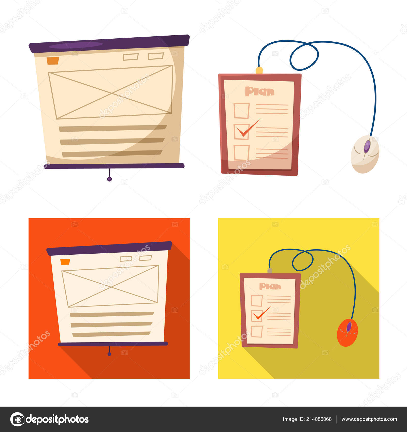 Vector Design Of Education And Learning Sign Collection Of