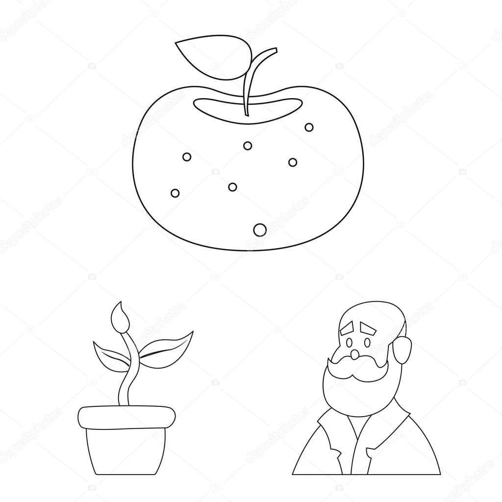 Vector illustration of  and  logo. Collection of  and  stock vector illustration.
