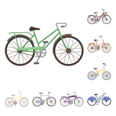 Various bicycles cartoon