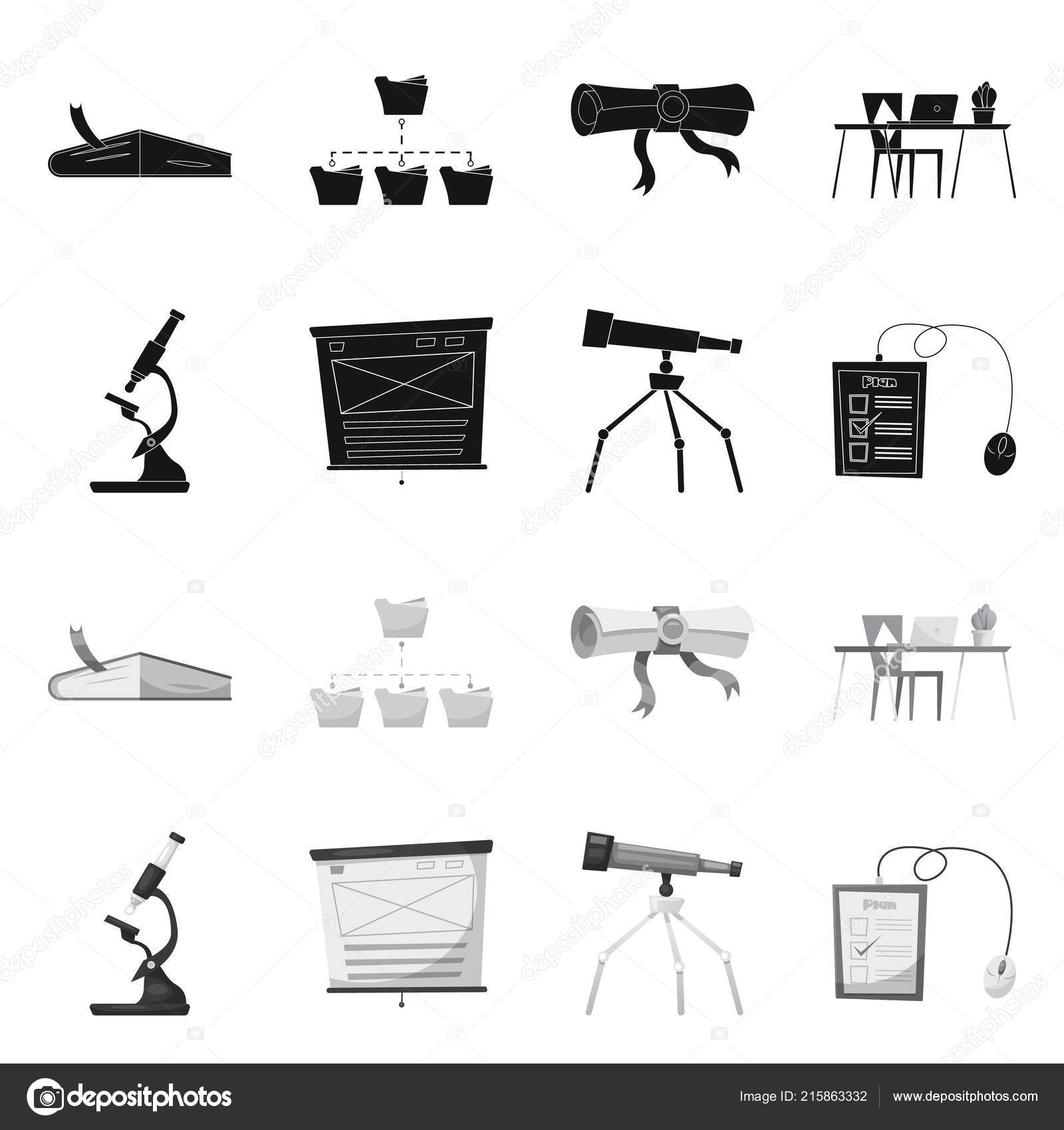 Isolated Object Of Education And Learning Symbol Collection Of