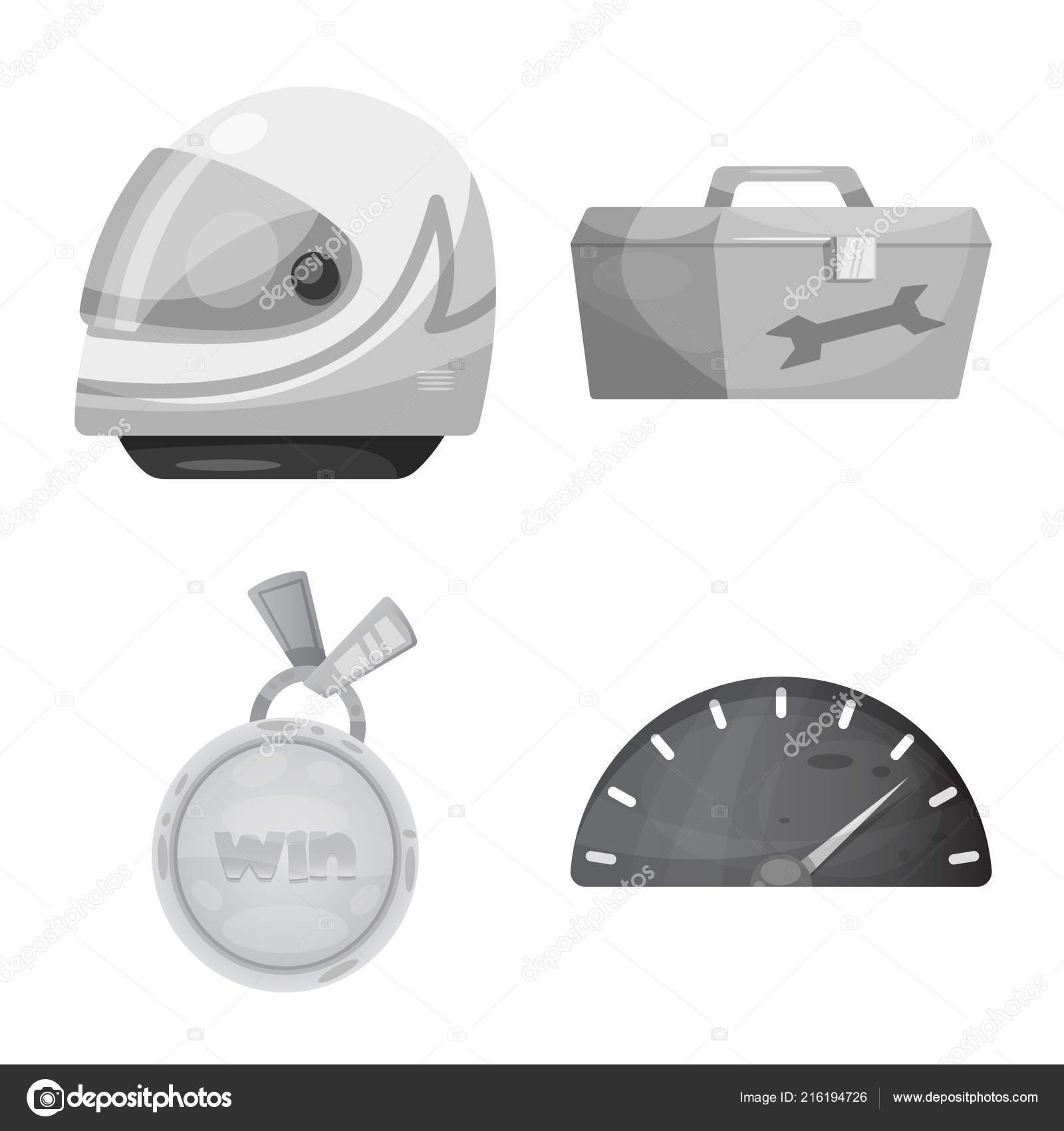Vector Illustration Of Car And Rally Icon Set Of Car And Race Stock