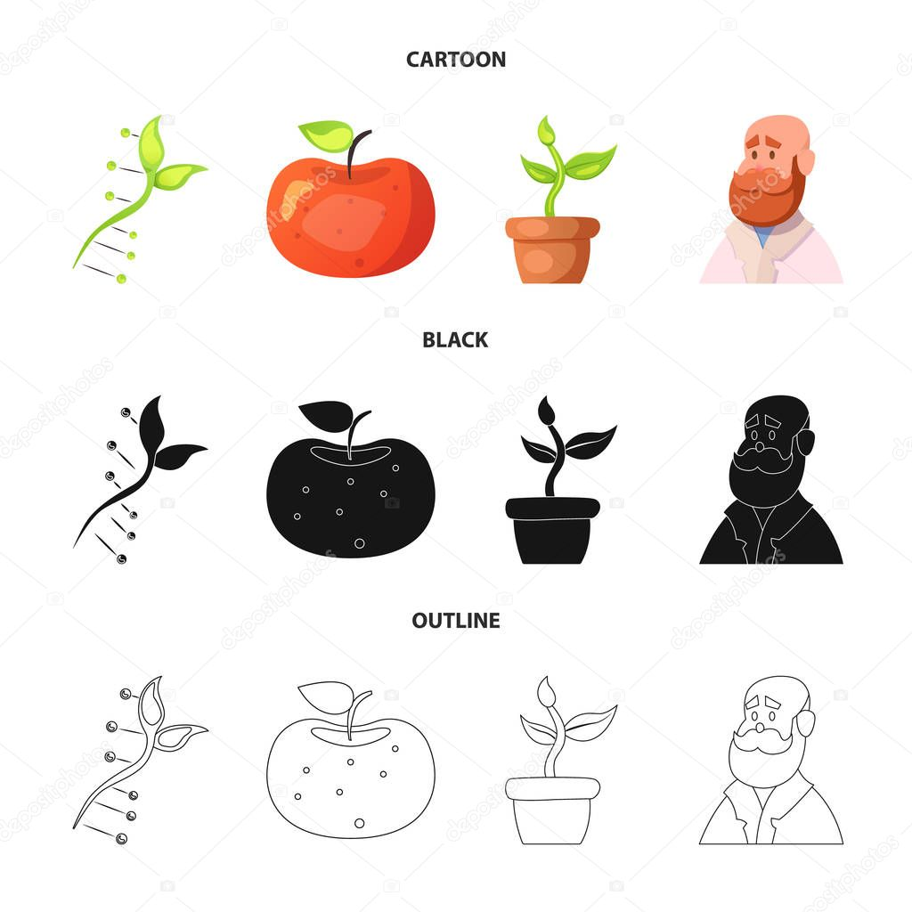 Vector design of  and  symbol. Collection of  and  stock vector illustration.
