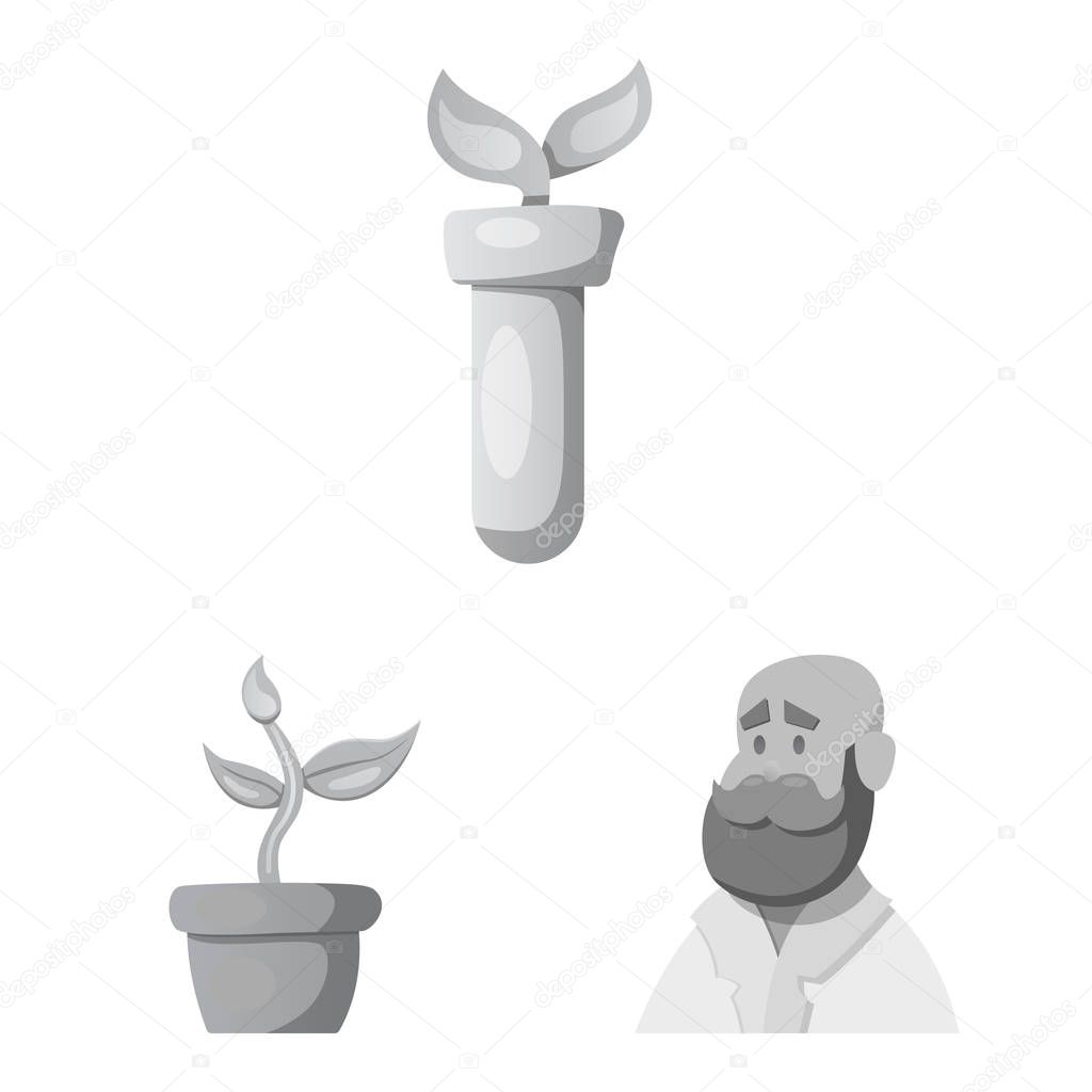 Vector illustration of  and  symbol. Set of  and  stock symbol for web.