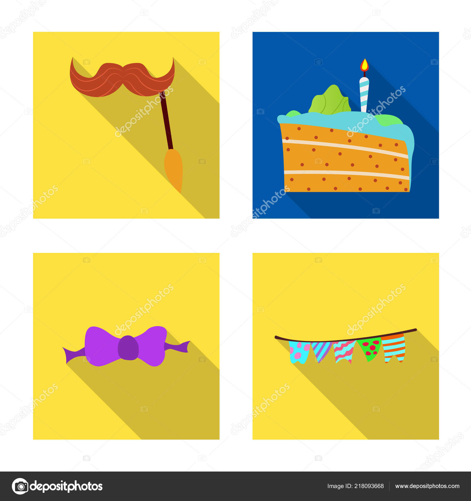 Isolated Object Of Party And Birthday Symbol Collection Of Party