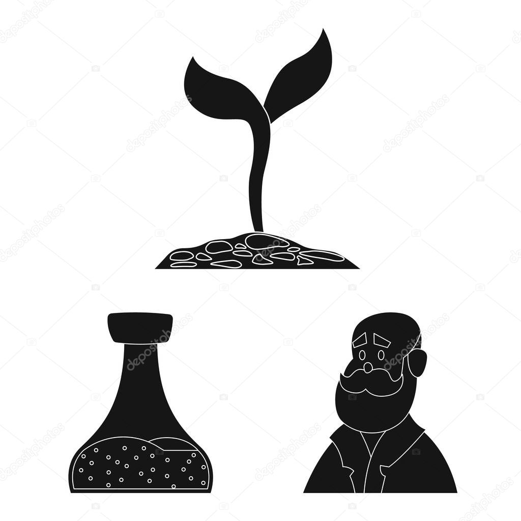 Vector illustration of  and  sign. Collection of  and  stock vector illustration.