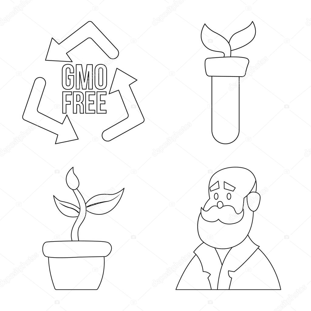 Isolated object of  and  logo. Set of  and  stock symbol for web.