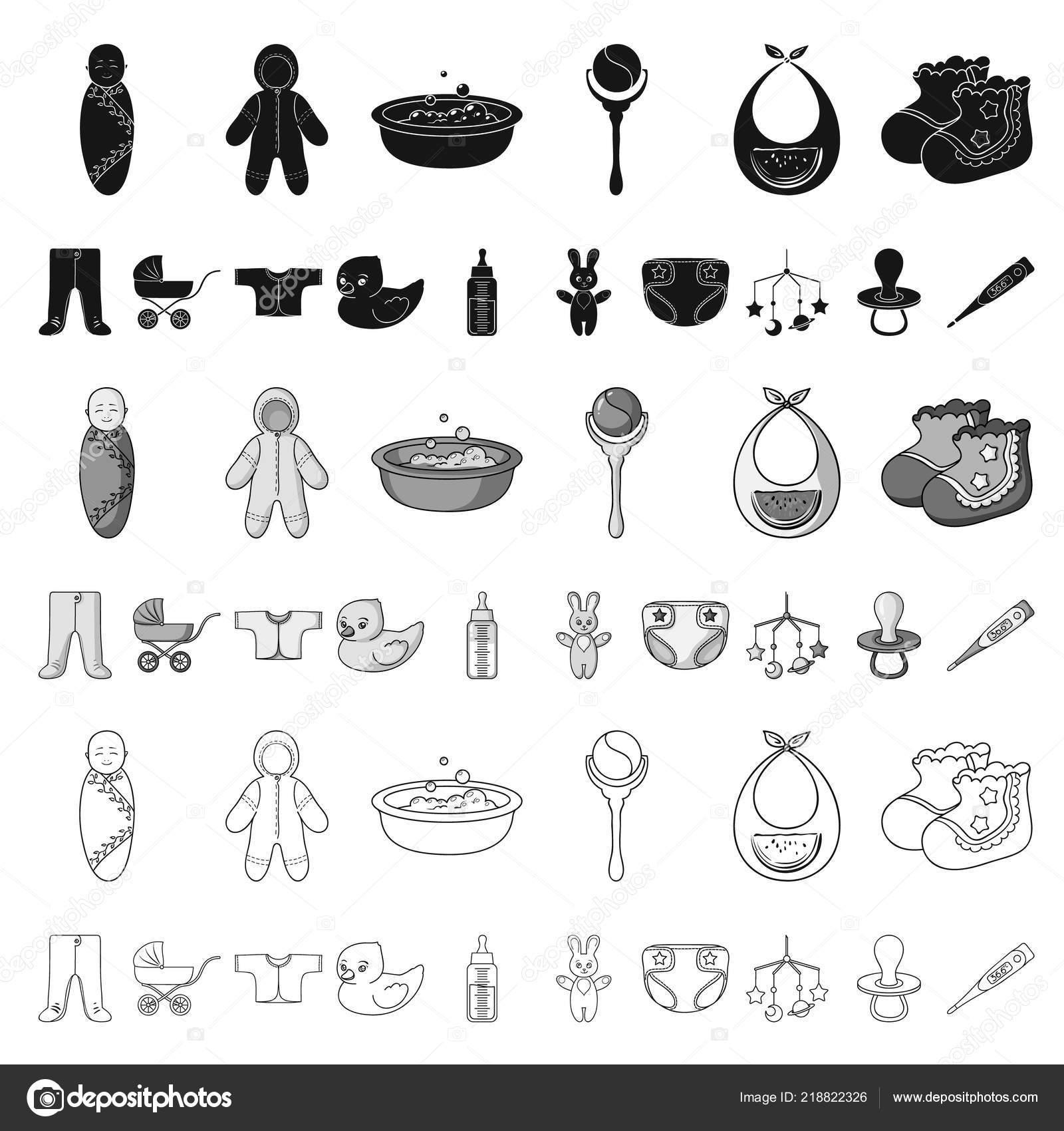 Naissance D Une Icônes De Dessin Animé De Bébé Dans La Collection De
