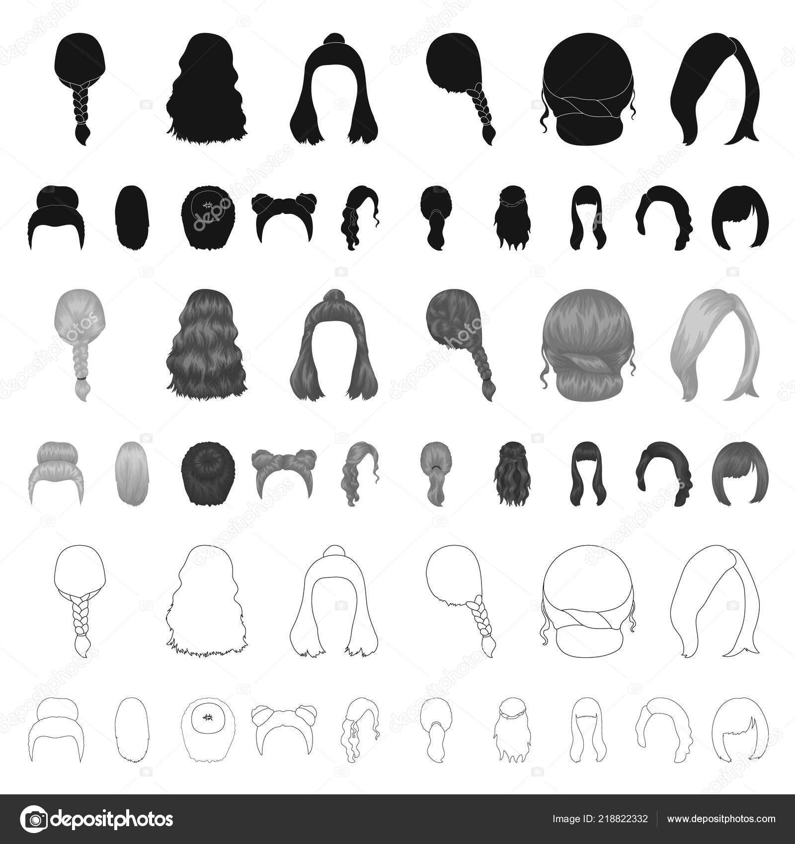 Immagine d archivio web simbolo di elegante taglio di capelli vettoriale–  illustrazione stock 533e20461982