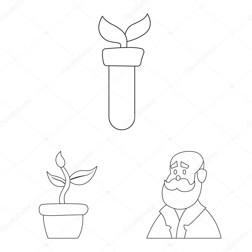 Vector design of  and  icon. Collection of  and  stock symbol for web.
