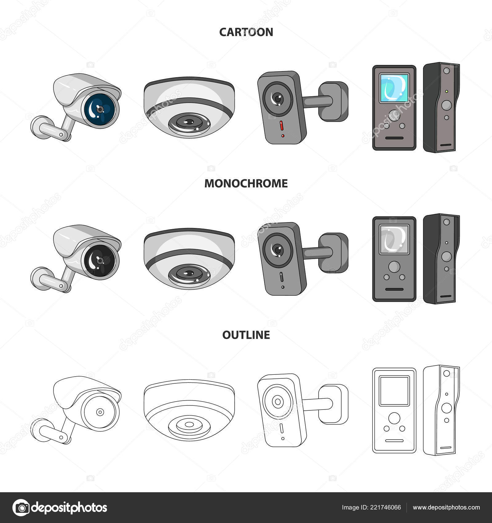 Vector illustration of cctv and camera sign  Collection of
