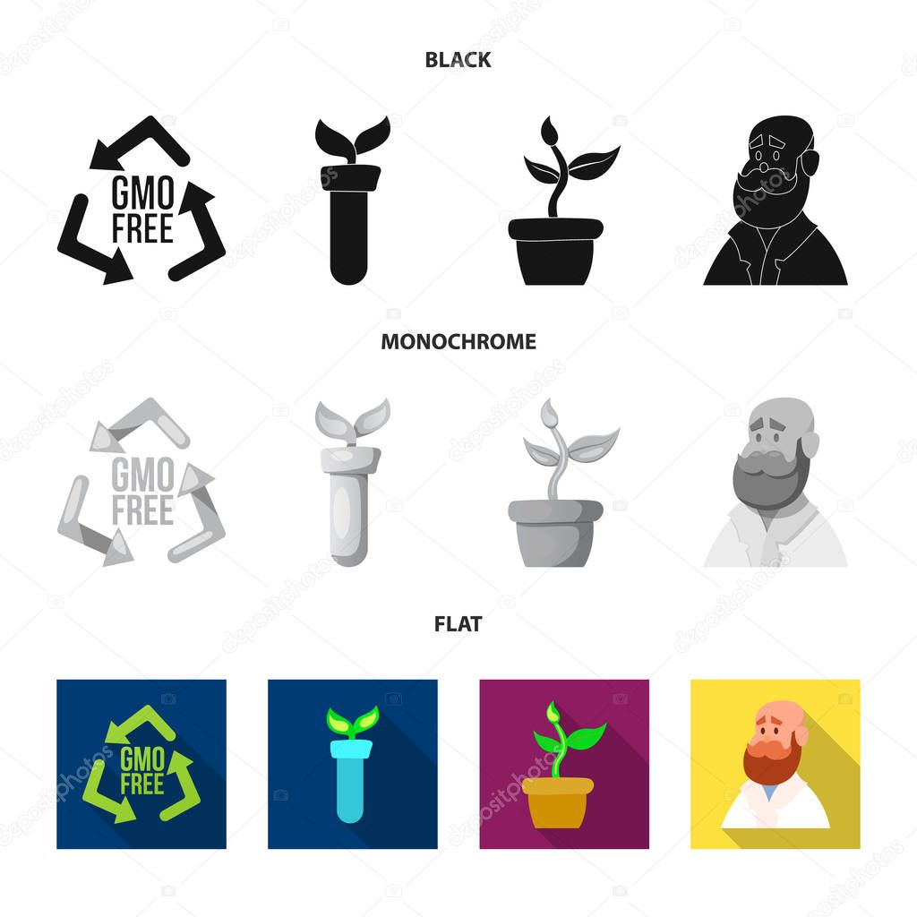 Vector design of  and  symbol. Set of  and  vector icon for stock.