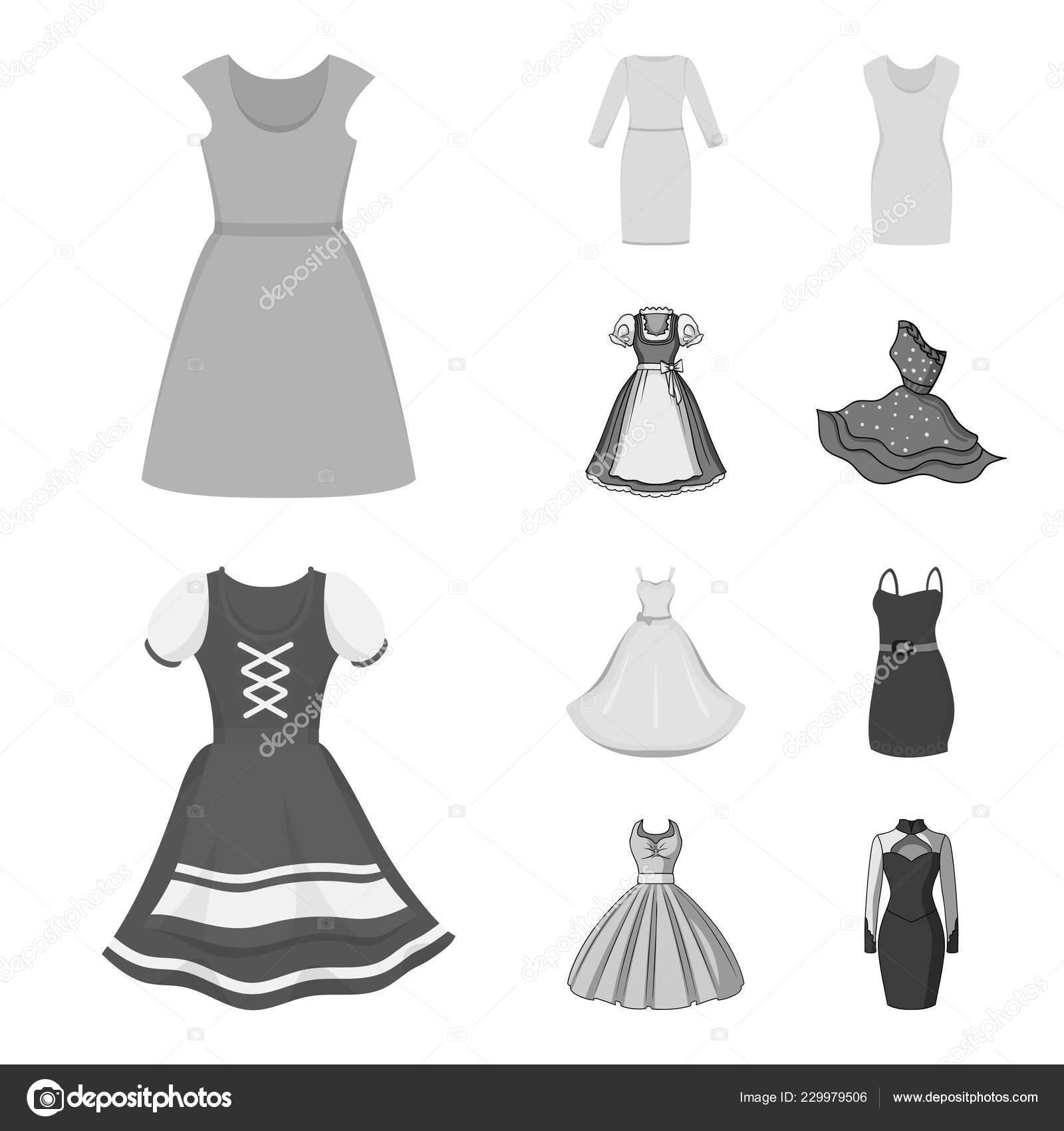 Desenho De Vetor Do Logotipo Vestido E Roupas Conjunto De