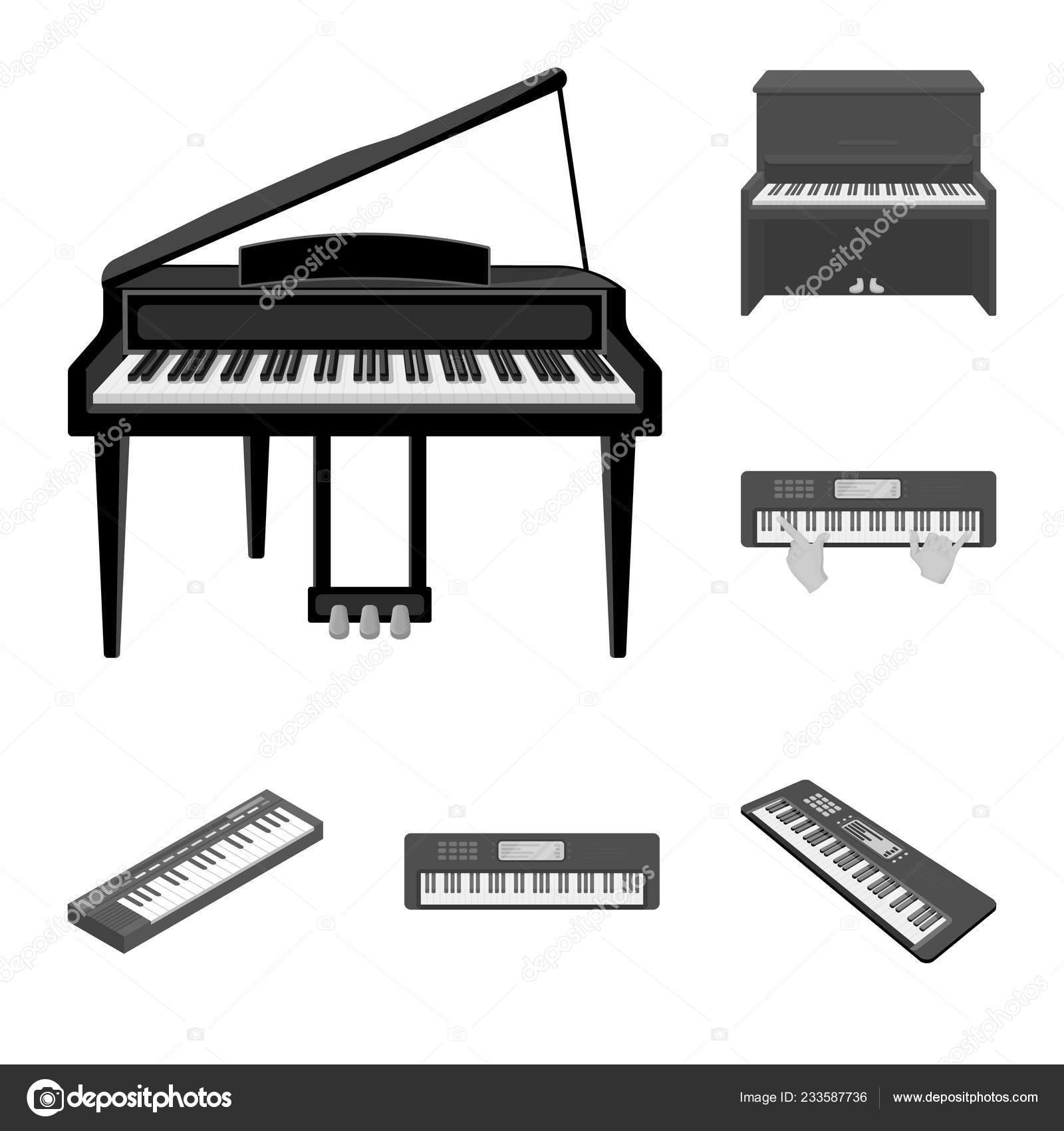 Desenho Vetorial De Simbolo De Musica E Piano Colecao De Musica E
