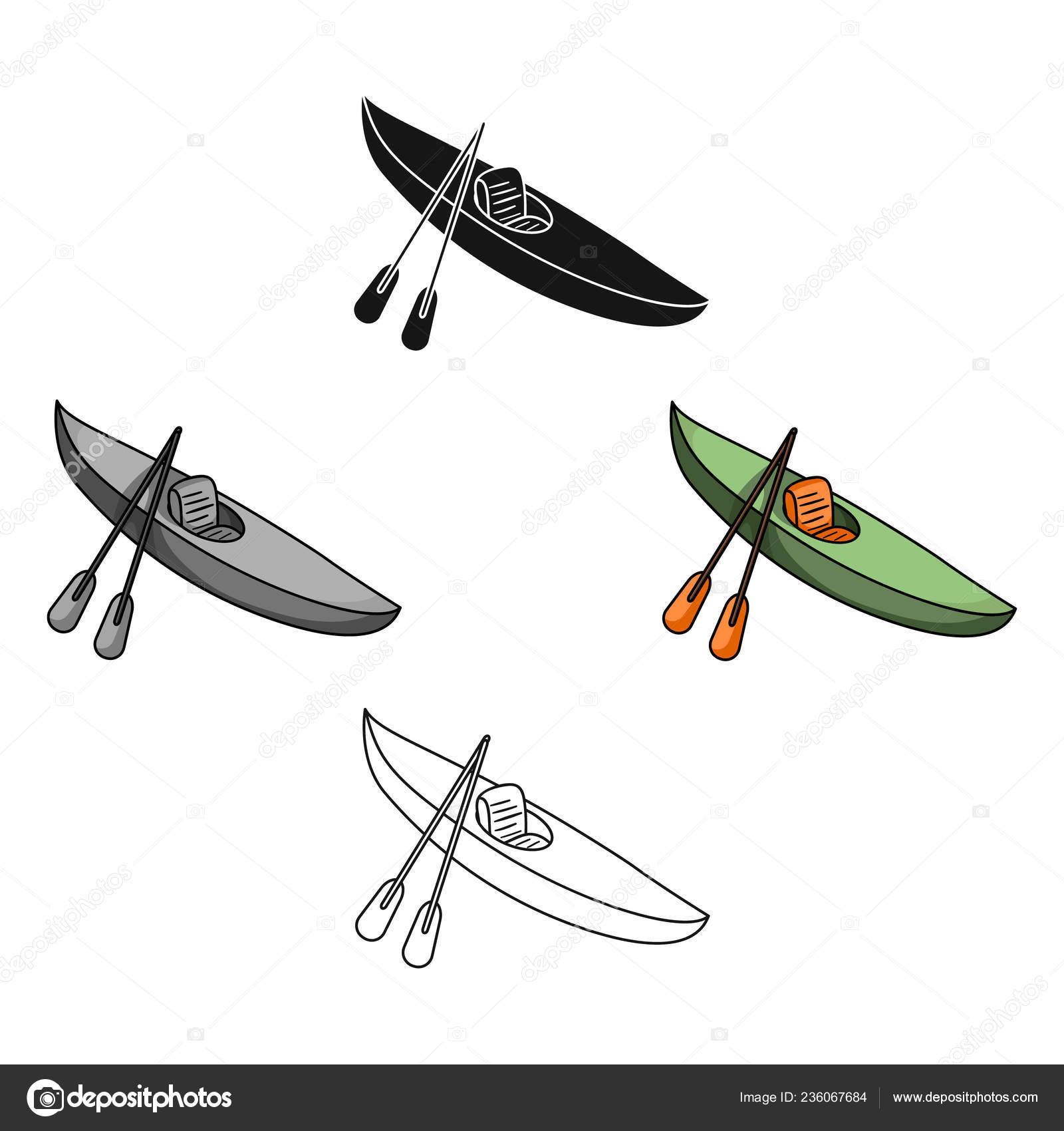 Verde Kayak De Descenso En Un Río De Montaña Deportes De