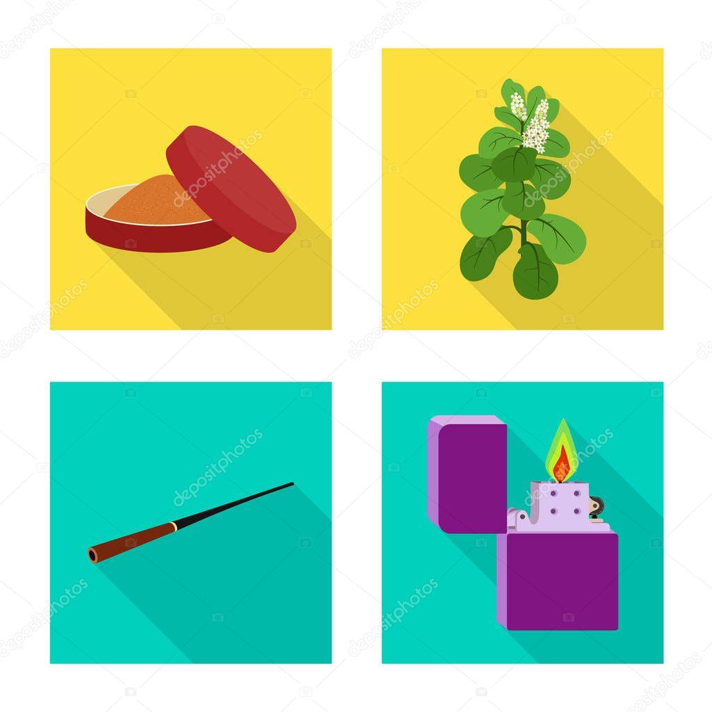 Vector illustration of smoke and statistics logo. Set of smoke and stop stock vector illustration.