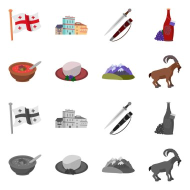 Vector illustration of culture and sightseeing icon. Set of culture and originality vector icon for stock.
