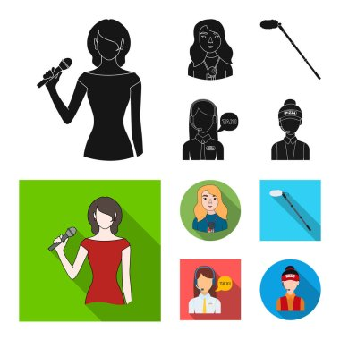 Vector illustration of karaoke and music icon. Collection of karaoke and club vector icon for stock.