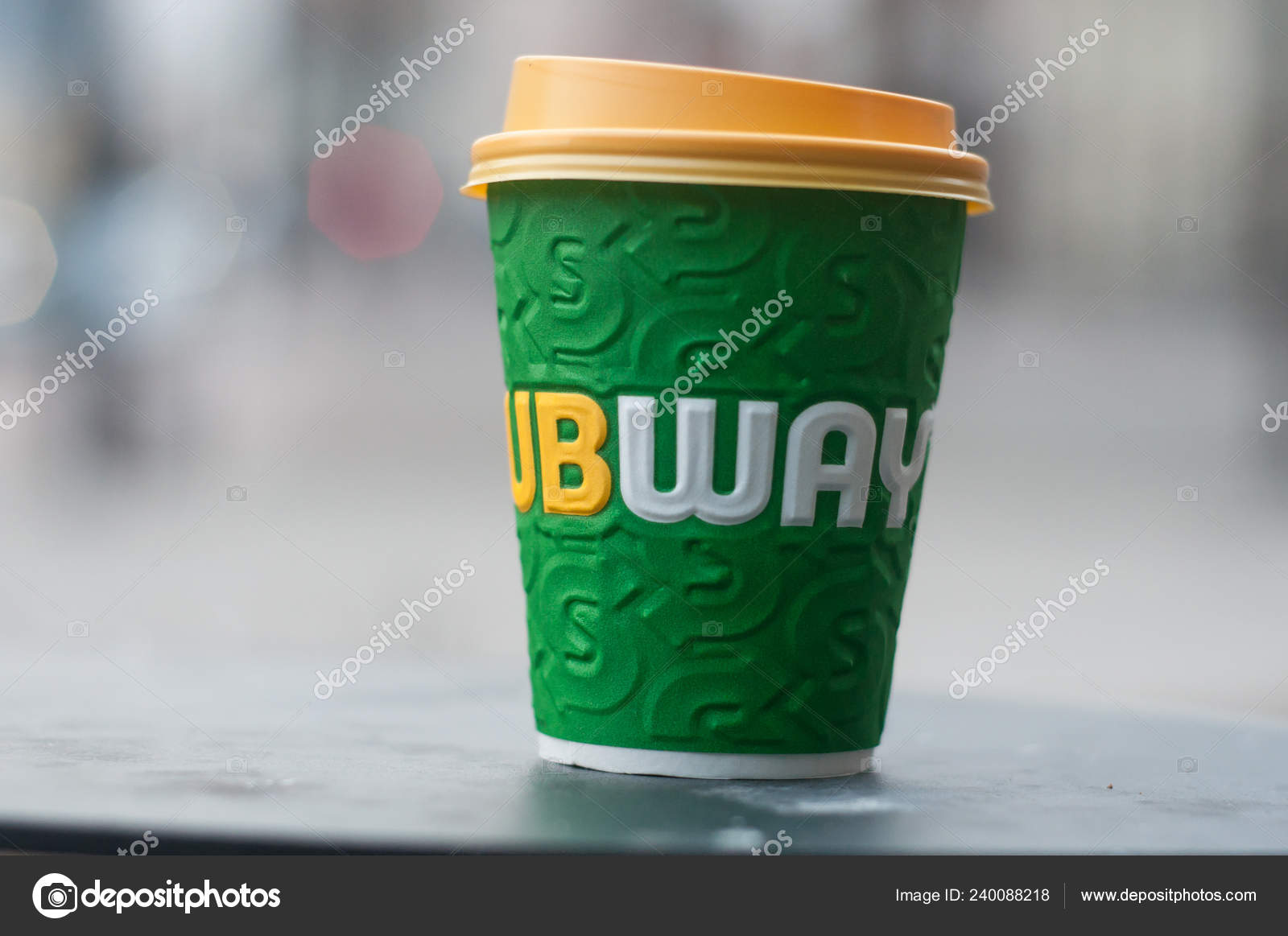 Mulhouse France January 2019 Closeup Paper Cup Coffee Take Away Stock Editorial Photo C Neydtstock 240088218