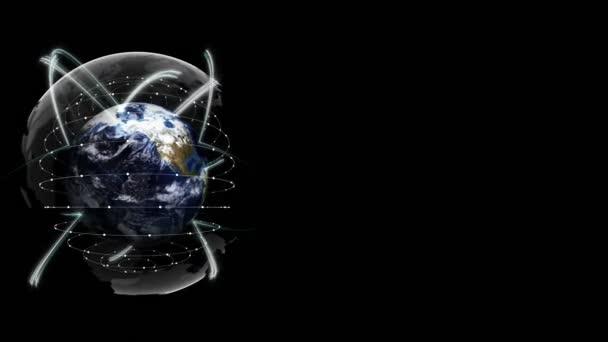 Föld, kapcsolatok hálózat koncepció, renderelés, grafika háttér