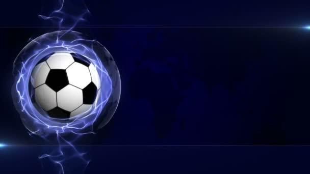 Soccer Ball Animation, Rendering, Background, Loop, 4k
