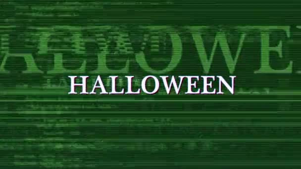 HALLOWEEN Glitch Text Animation, Background, Rendering, Loop, with Alpha Channel, 4k
