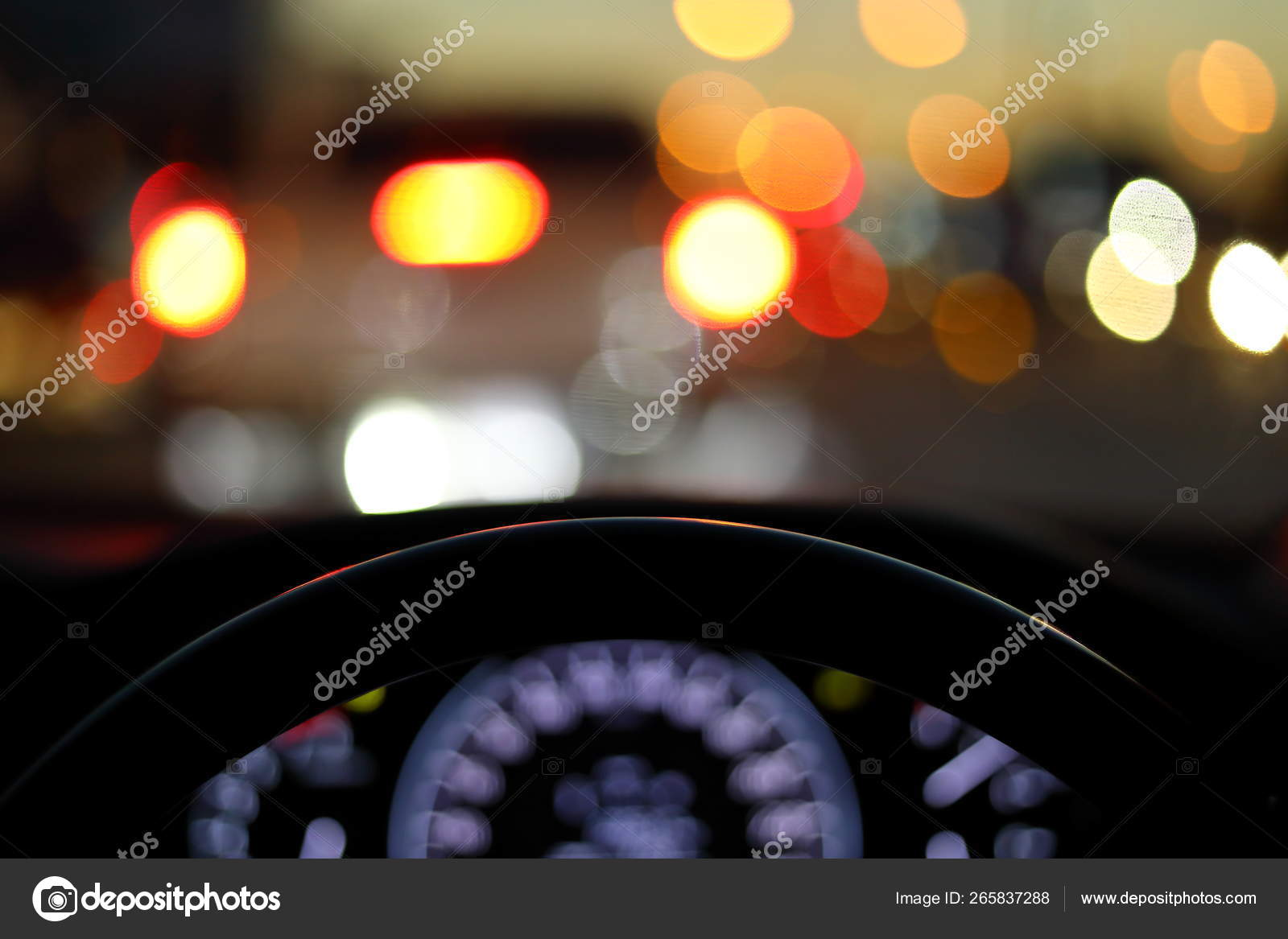 Vehicle Car Steering Wheel And Blur Bokeh Abstract Background Stock Photo Image By C Sutichak 265837288