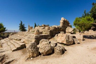 Ancient ruins of a Roman temple dedicated to Jupiter in Kasarnaba, near Zahle, Bekaa Valley, Lebanon