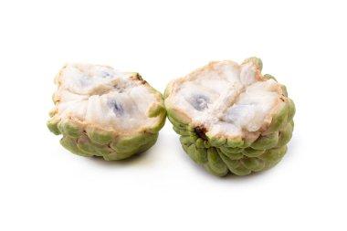 custard apple fruit isolated on white background