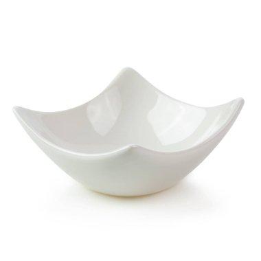 White Ceramic Bowl isolated on white background.
