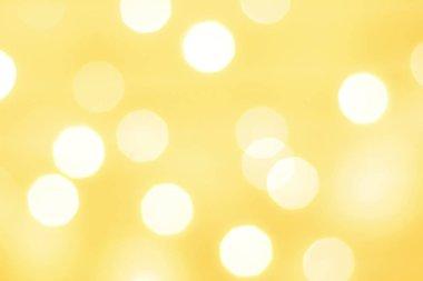 Christmas Light Night Bokeh, Yellow light bokeh of celebration