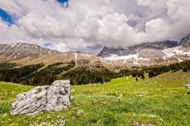 """Картина, постер, плакат, фотообои """"Горный хребет пейзаж. Плато Montasio, итальянские Альпы."""", артикул 203568514"""