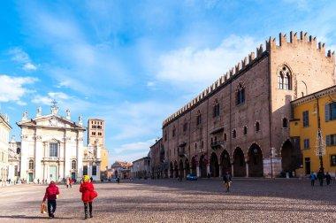 Mantova, Italy - January 5 2018 :    Historical city of Mantua.