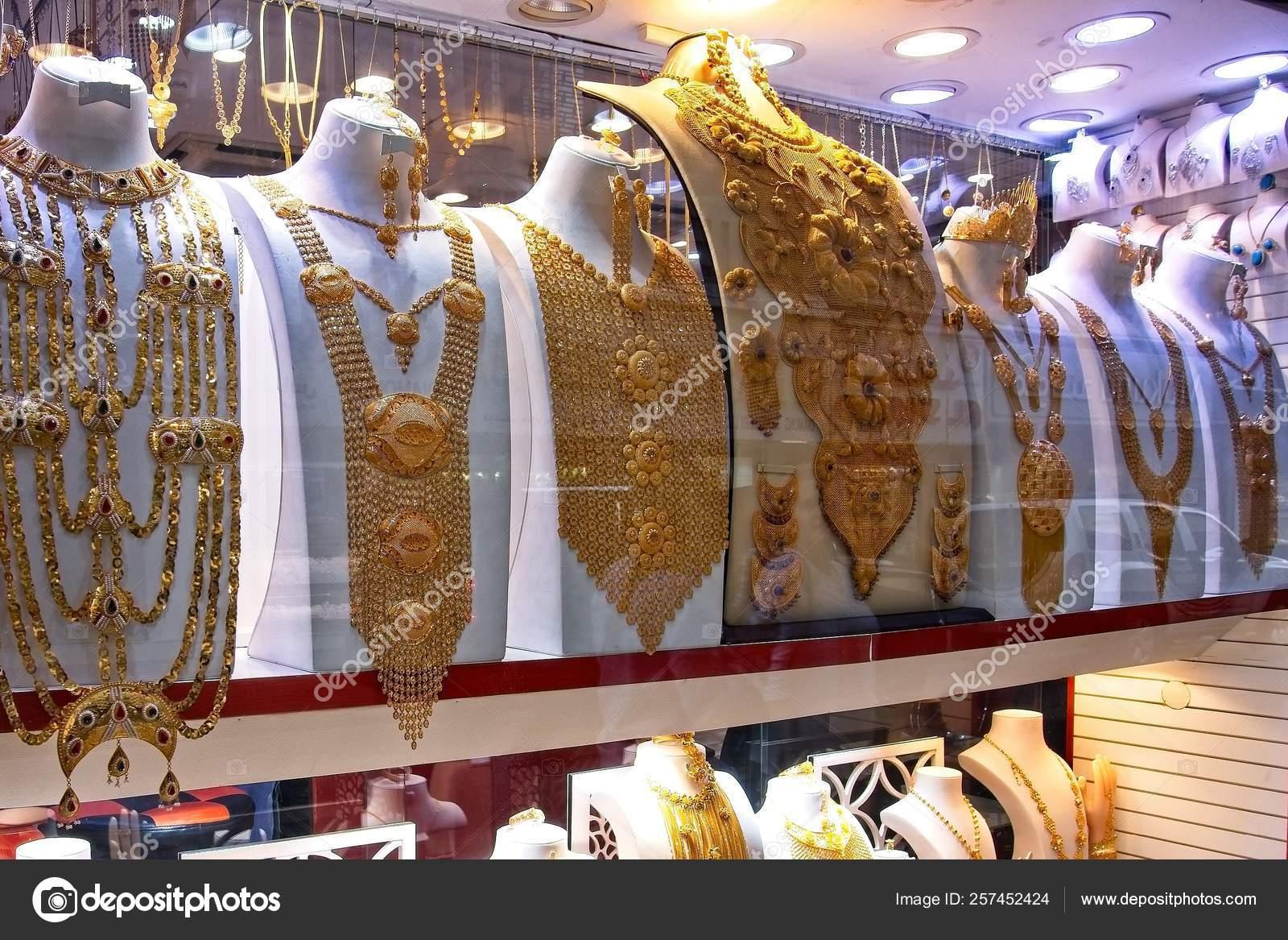 Shot Gold Souk Dubai Famous Gold Market Place Visit Dubai