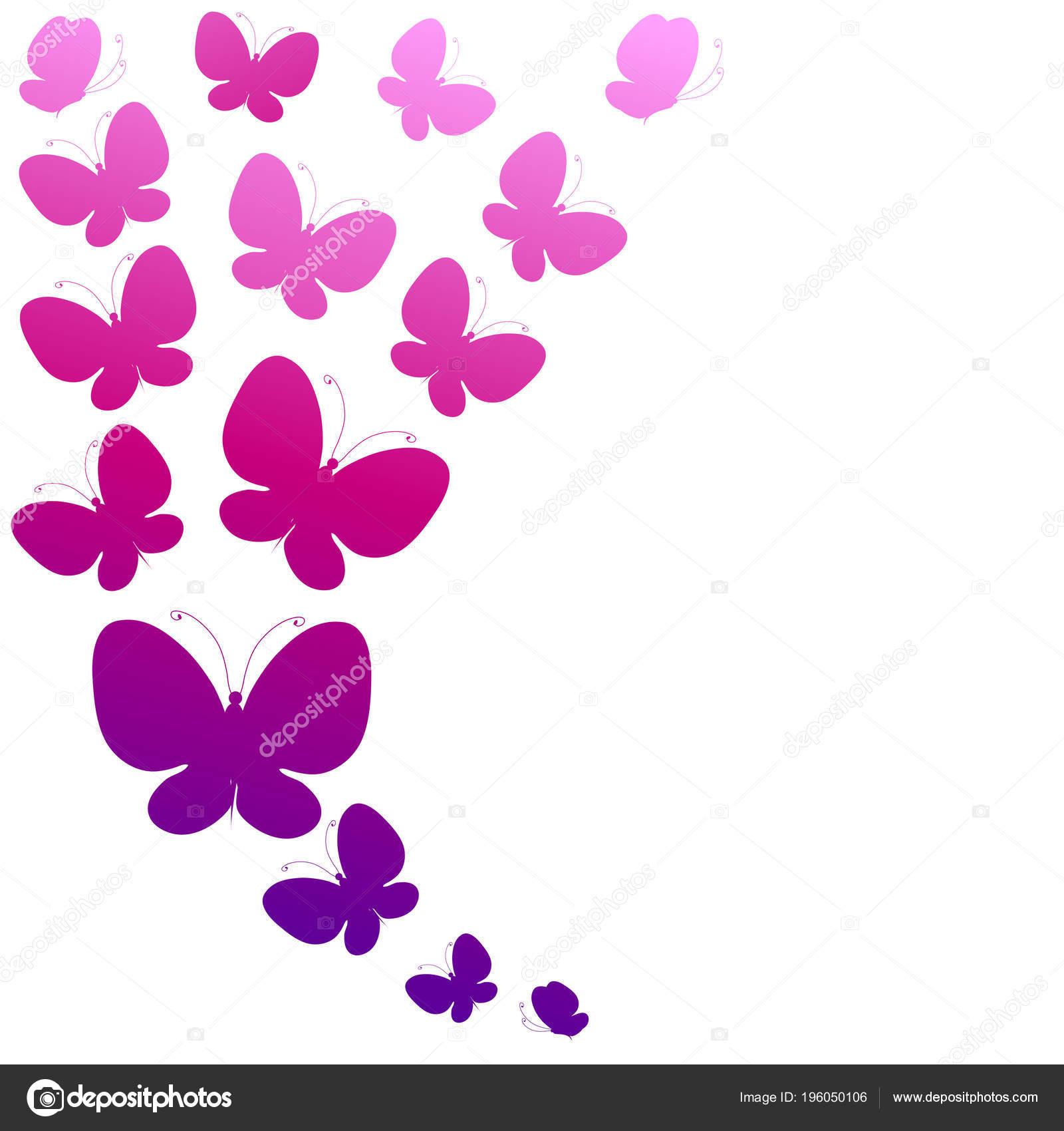 Tarjeta Invitación Con Mano Dibujadas Hermosas Mariposas