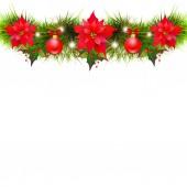 Ghirlanda di Natale luminoso isolato su priorità bassa bianca