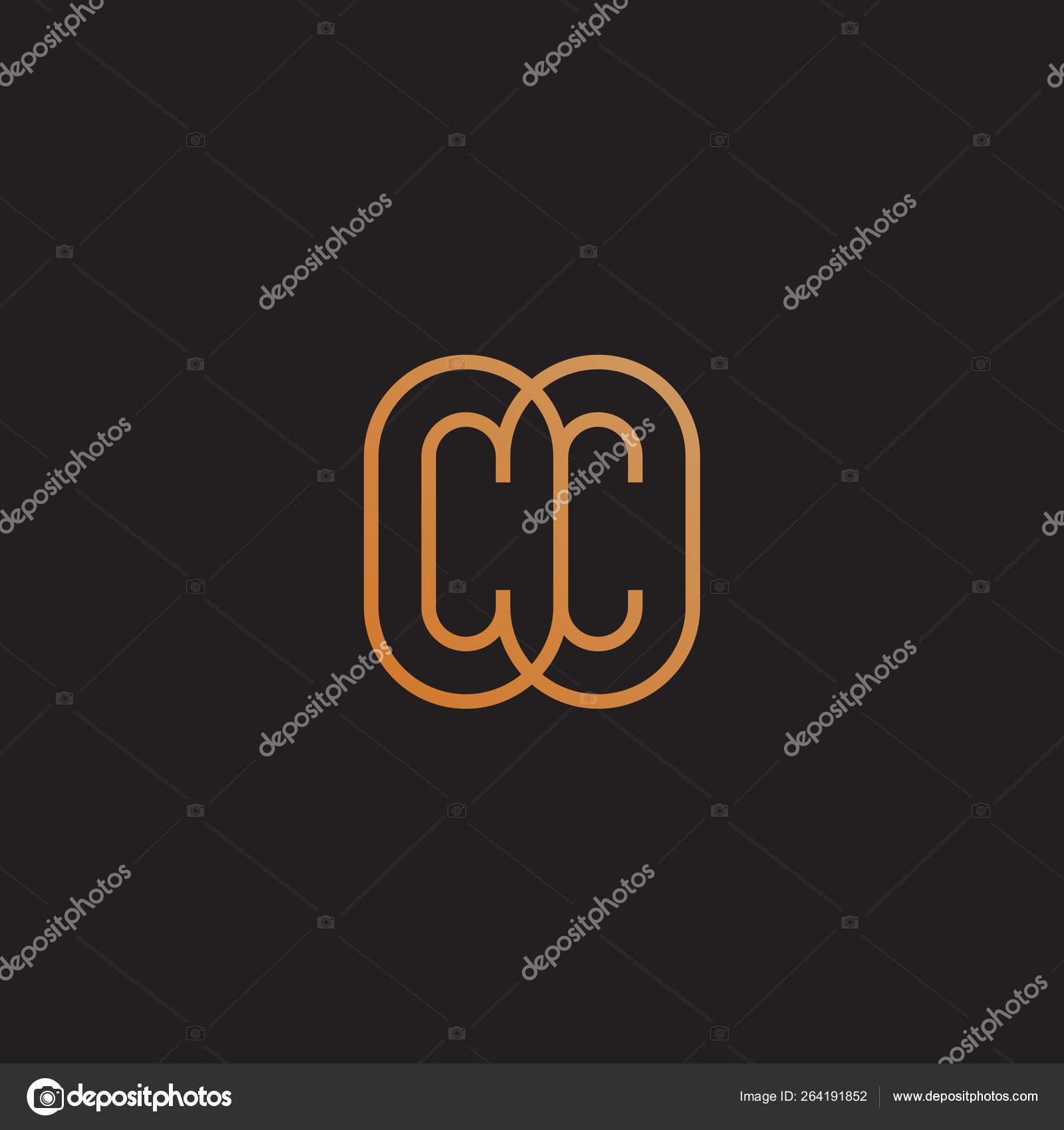 Monogram Cc Stock Vector C Jazzzzzvector 264191852
