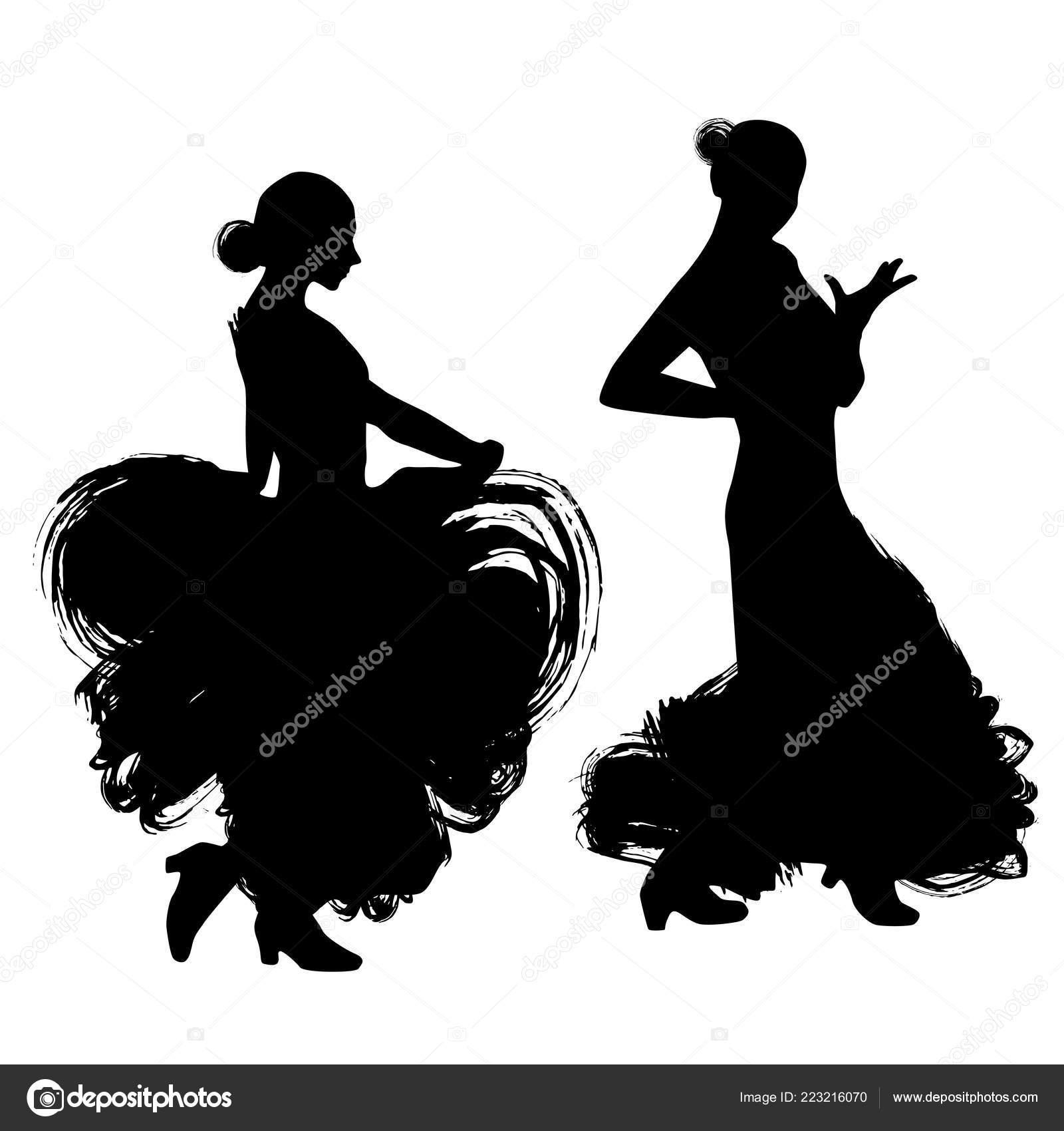 Donna Abito Lungo Soggiorno Nella Posa Dancing Ballerina ...