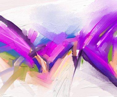 """Картина, постер, плакат, фотообои """"абстрактная красочная живопись маслом на холсте. ручной штрих кистью, фон живописи маслом. современное искусство живописи маслом фиолетового, красного цвета. абстрактное современное искусство для фона абстракция"""", артикул 204806098"""