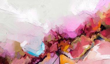 """Картина, постер, плакат, фотообои """"полуабстрактное изображение фона пейзажной живописи. современная живопись стен маслом. мбаппе работает на заднем плане картина пейзаж постеры портрет ретр"""", артикул 277691142"""