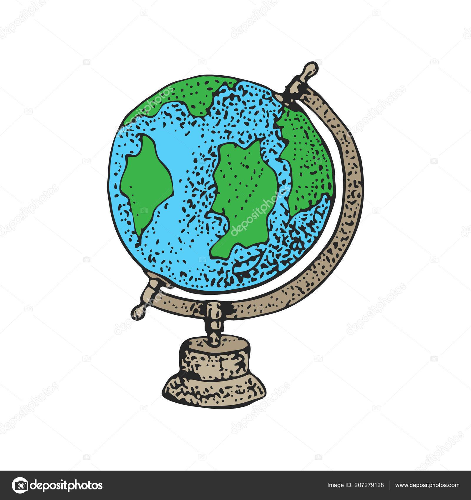 School geography globe cartoon vector illustration earth world map school geography globe cartoon vector illustration earth world map education stock vector gumiabroncs Gallery