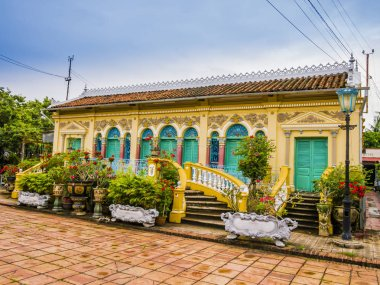 Historical house in french colonial-style, Binh Thuy village, Can Tho, Vietnam
