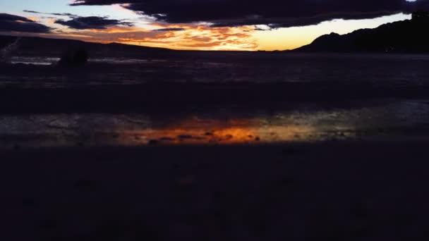 Sunset on the beach. Sunset on the beach with beautiful sky.