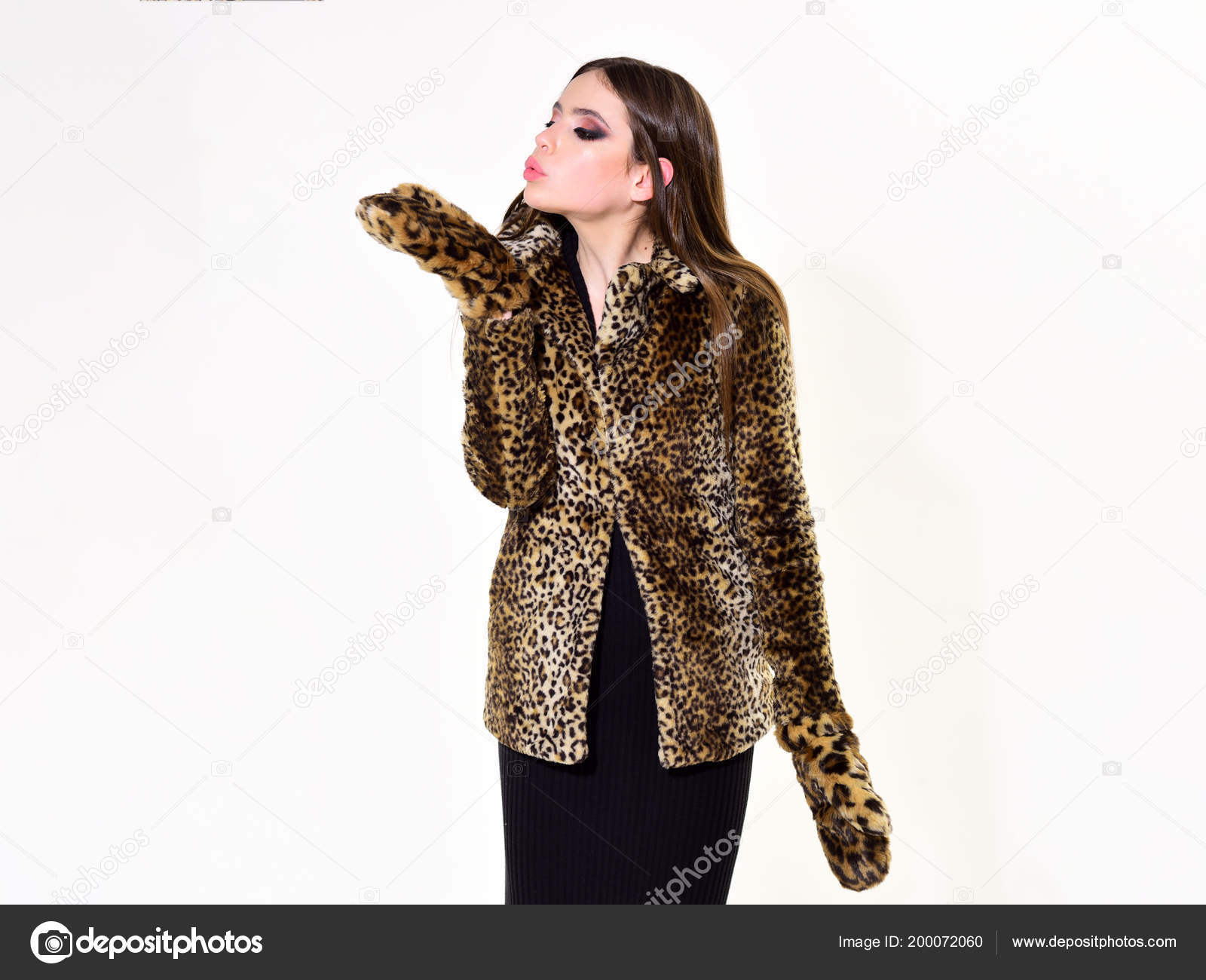 Fell mantel leopard