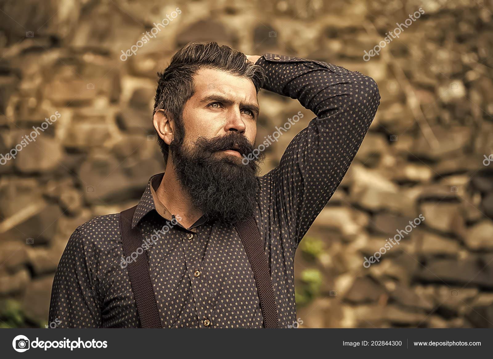 Revelação Masculina Closeup Vista Homem Lindo Sênior Com